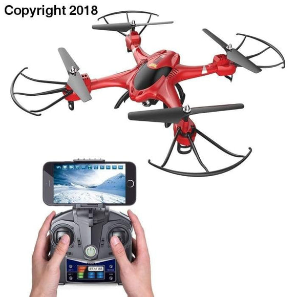Holy Stone HS200 RC Drone with FPV HD Wifi Camera Live Feed 2.4GHz 4CH 6-Axis Gyro Quadcopter with Altitude Hold, Gravity Sensor and Headless Mode RTF Helicopter - future-rockets