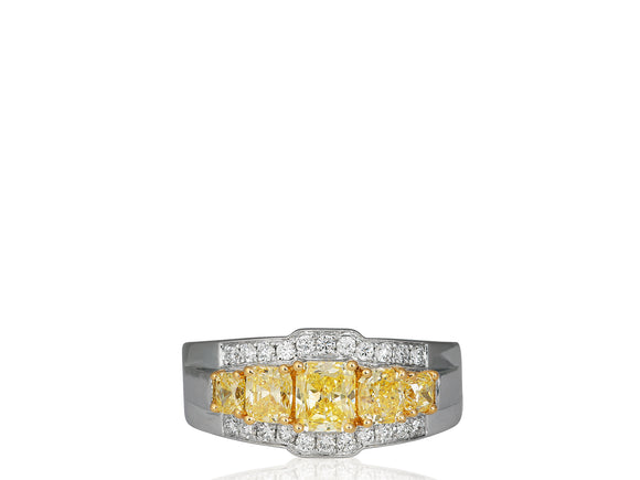 1.44ct Canary Diamond Ring