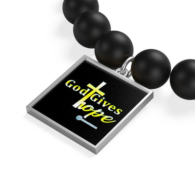 Matte Onyx Bracelet - God Gives Hope