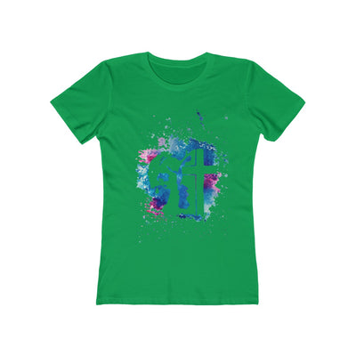 Jesus Paint Art Women's The Boyfriend Tee