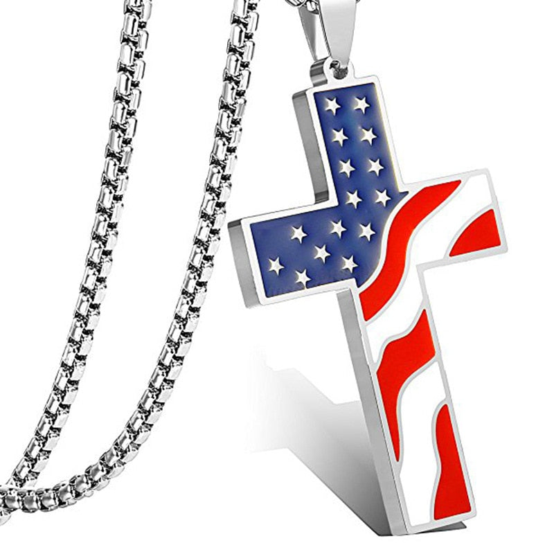 God Bless America Necklace
