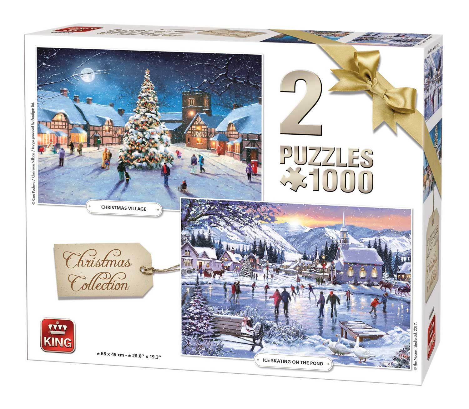 King 2 In 1 Christmas Collection Jigsaw Puzzle (1000 Pieces)