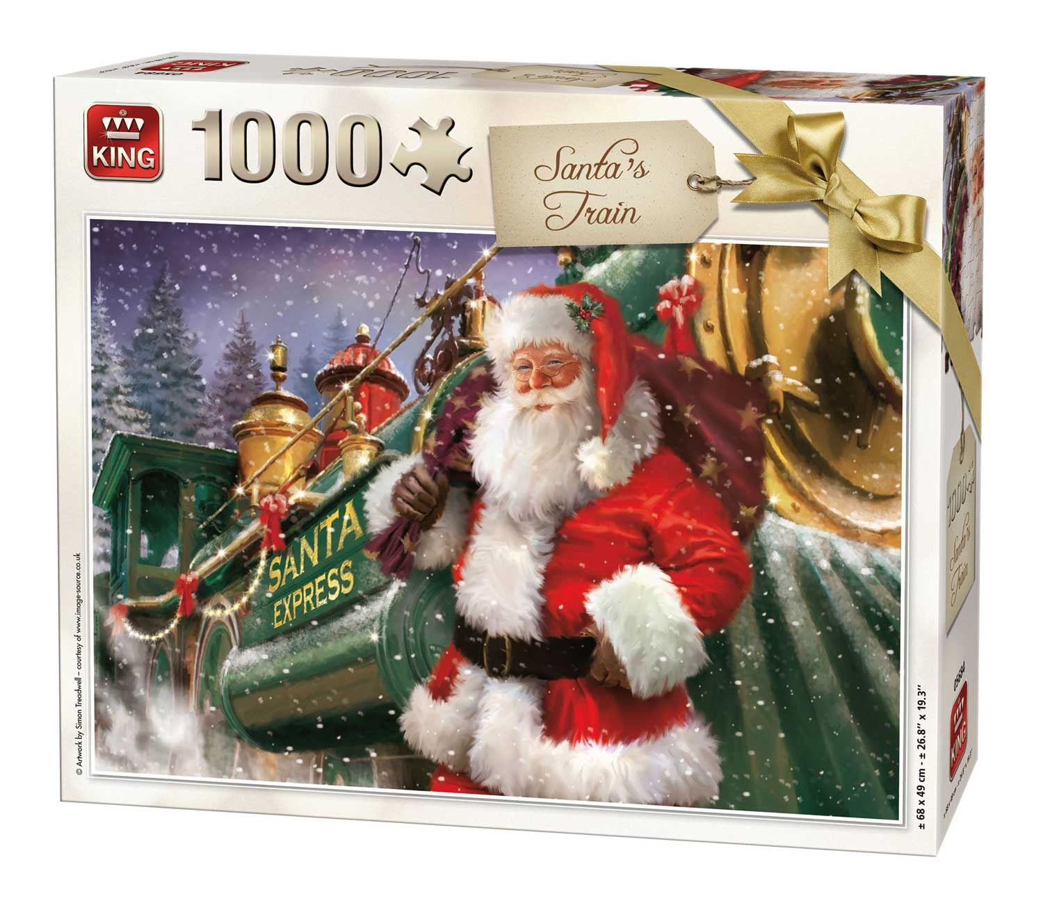 King Santa's Train Jigsaw Puzzle (1000 Pieces)