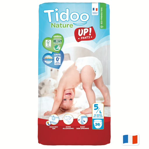 TIDOO - 36 Culottes d'apprentissage jetables JUNIOR T5 12-18 kg