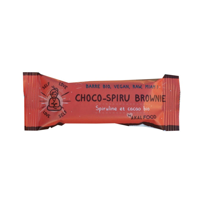 Akal food - Barre choco-spiru Brownie 35g bio