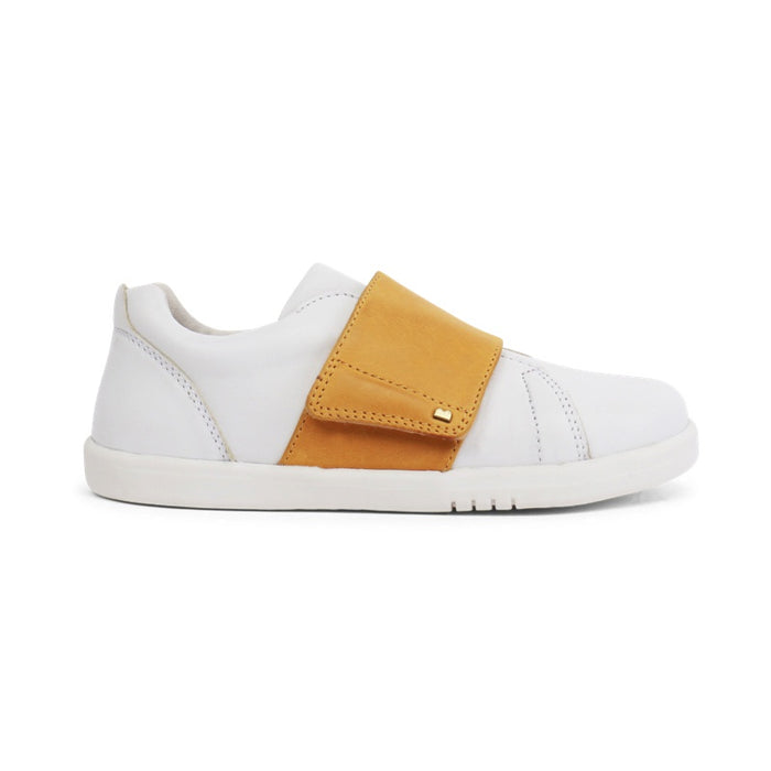 BOBUX -  Chaussures cuir souple Kid+ Boston - White Chartreuse