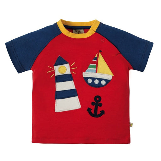 FRUGI -  T-shirt manches courtes Renny bio - Tomato Lighthouse