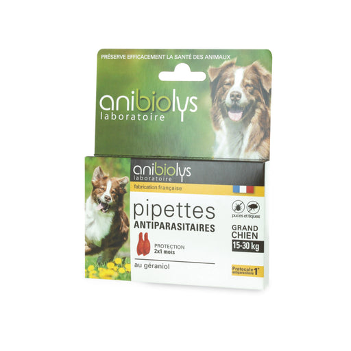 ANIBIOLYS - Pipettes antiparasitaires pour grand chien