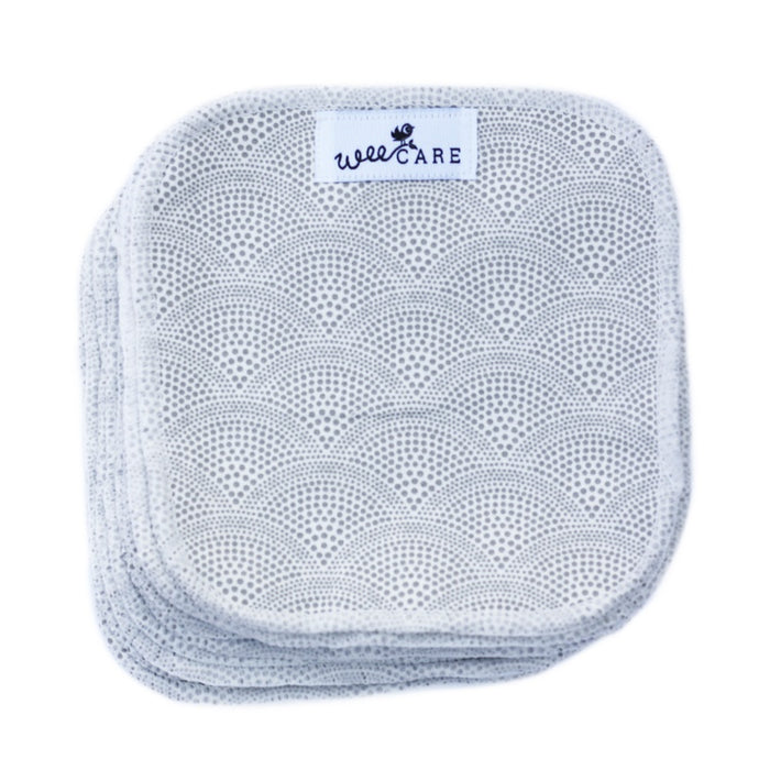 WEECARE - Lot de 10 lingettes lavables Alba - Grey