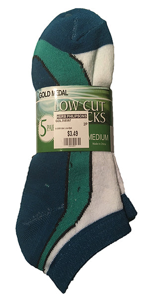 Gold Medal Kid's Low Cut Socks -5Pk-Assorted-