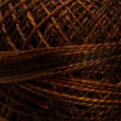 Valdani Pearl Cotton Size 12 Thread Variegated Brown