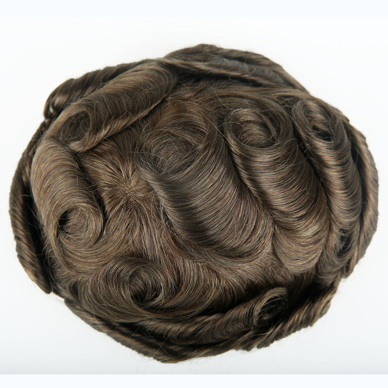 European Virgin Human Hair Brown P2-3-8 Base Man Toupee
