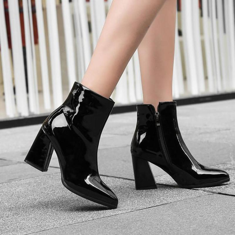 Side Zipper Boots