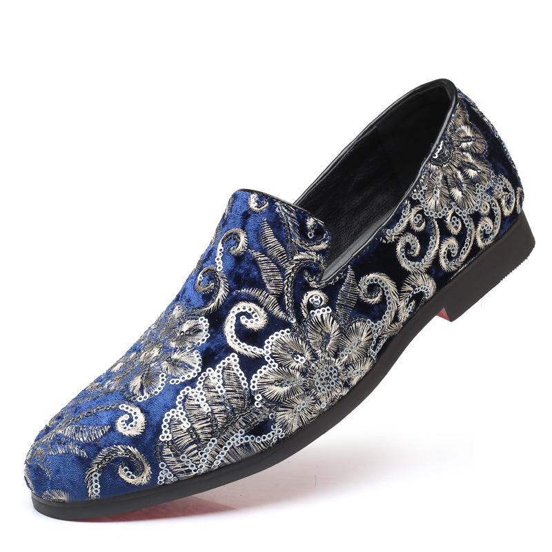 Flower Sequined Casual Loafers