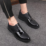 Glossy Leather Shoes Patent Loafers