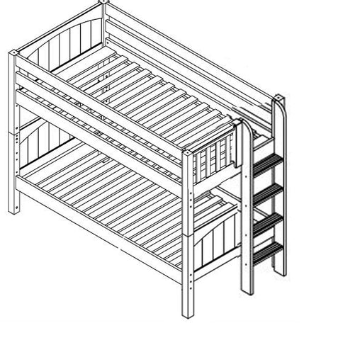 Maxtrix Low Bunk w Side Ladder