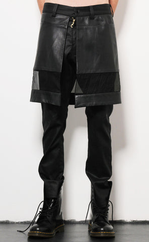 Drop Hem Kilt Trousers