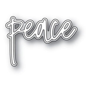 94072 Peace Jotted Script craft die