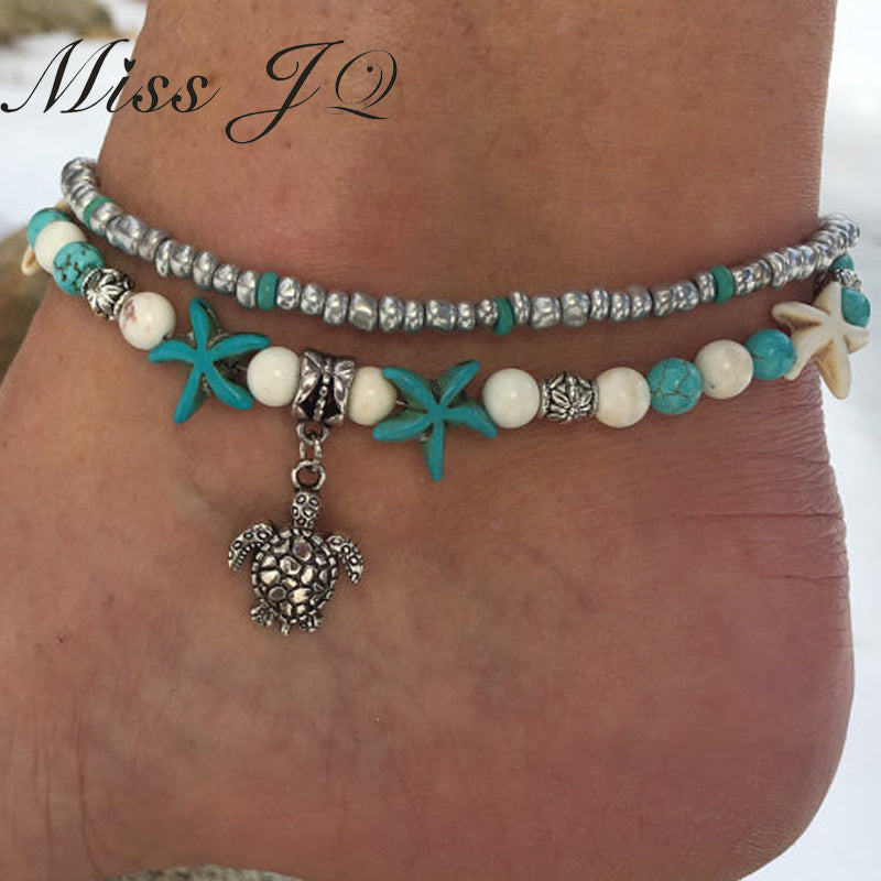 Starfish Turtle Anklets