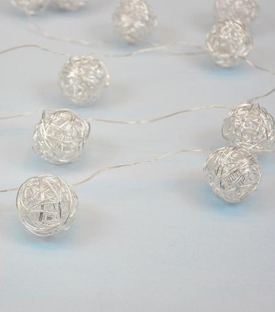 Brooklyn Lighting Company Silver Woven Ball Lights