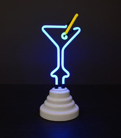 Funderdome USB Powered Martini Glass Neon Light