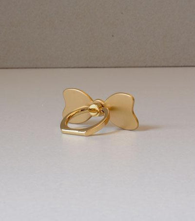 LMNT Gold Bow Universal Cell Phone Ring Stand