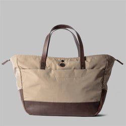 Appdale | Ladies large beige nylon tote bag | Thorndale