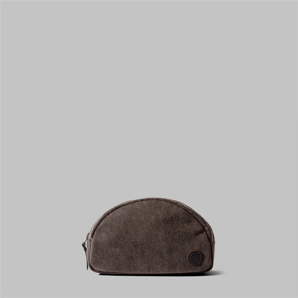 Asterley | Ladies Brown Waxed Cotton Wash Bag | Thorndale, UK