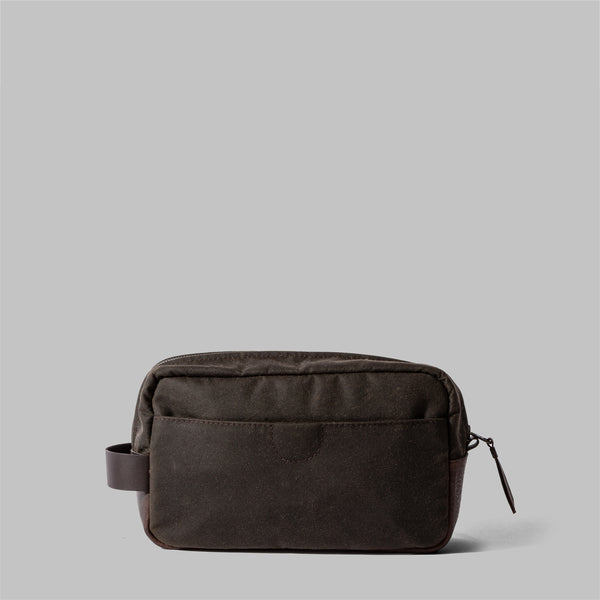 Brindley | Mens Waxed Cotton Wash Bag | Thorndale, UK
