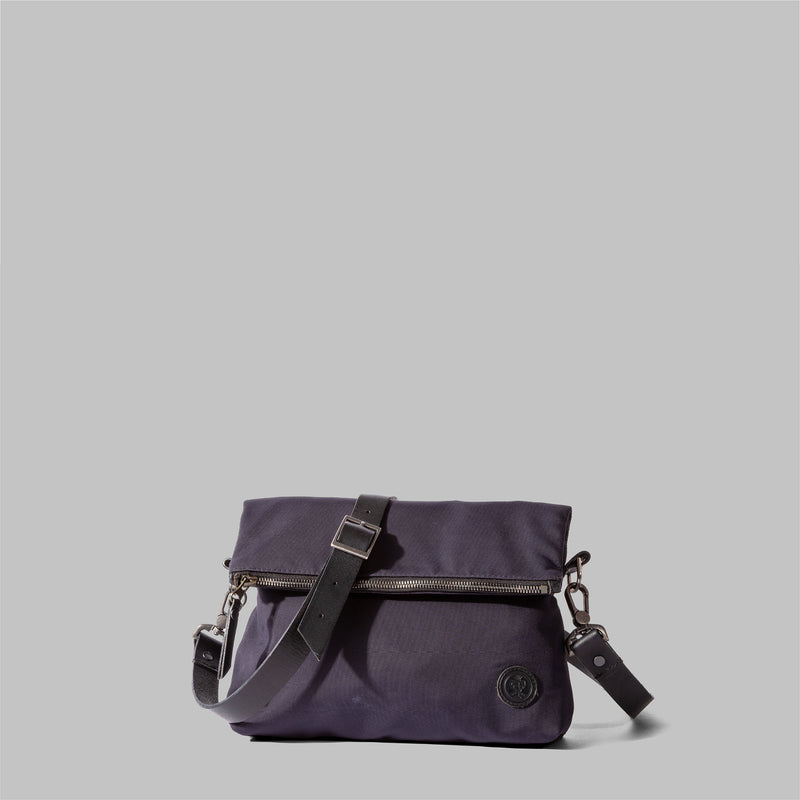 Ellesmere | Womens Navy Nylon & Leather Cross Body Bag | Thorndale