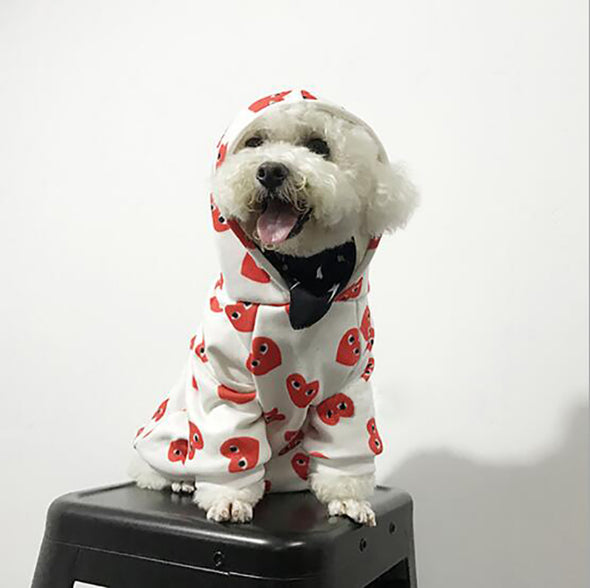 Pup Beast Hype Hearts White & Red Hoodie (HOT ITEM!)