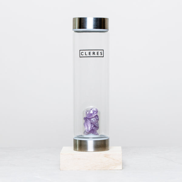 Amethyst Stone Water Bottle