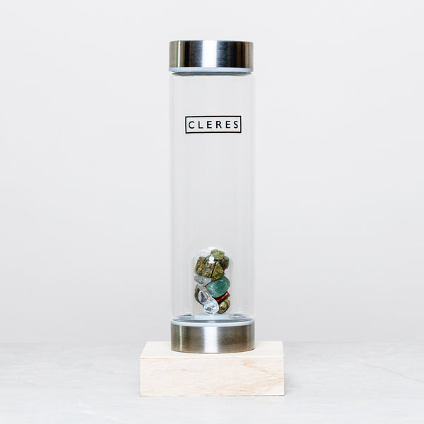 Jade Crystal Stone Water Bottle