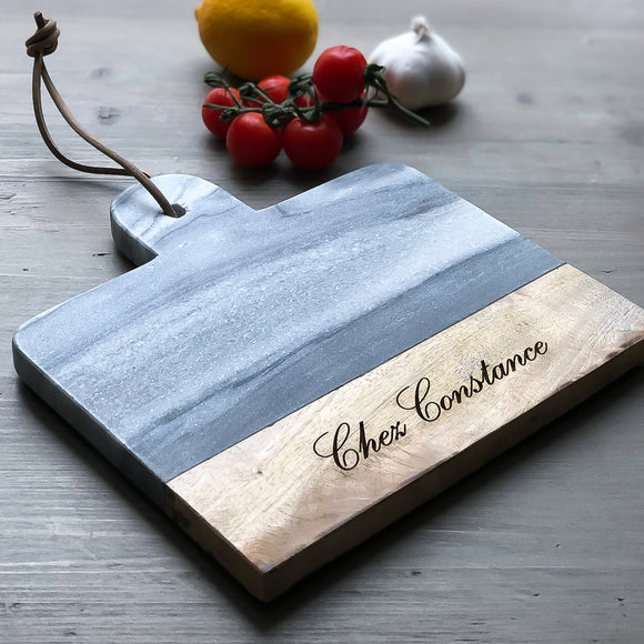 Personalised Marble Cheese Board