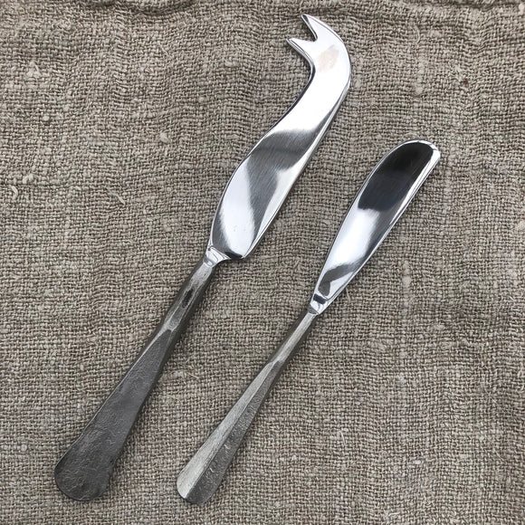 Cheese & Butter Knife Set - Hand Forged Handles