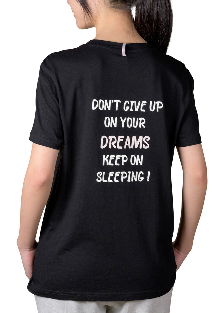 Current Mood Boyfriend T-Shirt - DON'T GIVE UP ON YOUR DREAMS KEEP ON SLEEPING!