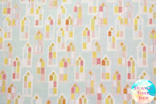In The Beginning Believe Church Windows Cotton Fabric