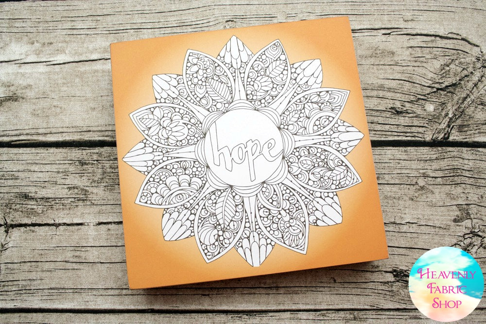 Hope Flower Coloring Wall Art