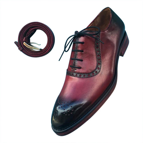 Oxford smart casual leather men's shoes