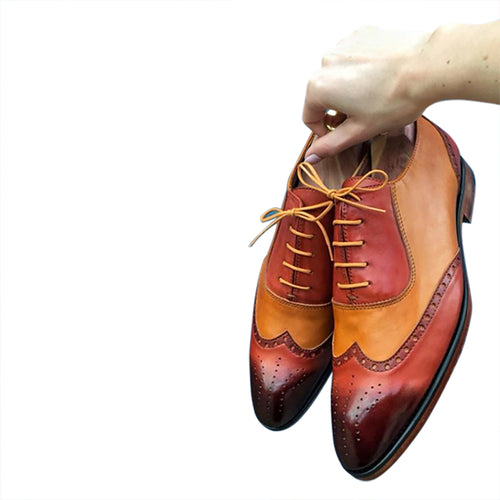 Genuine leather Oxford shoes for men