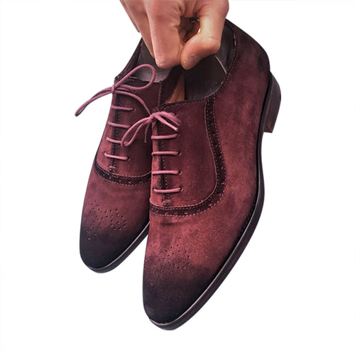 Suede men's leather shoes