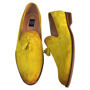 Loafers hand painted shoes for men