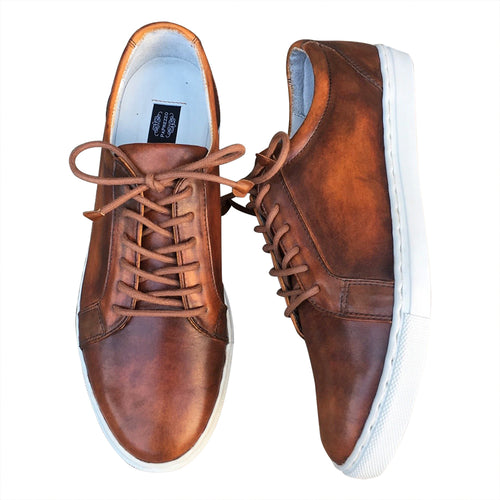 Near me Sneakers hand made  leather shoes for men