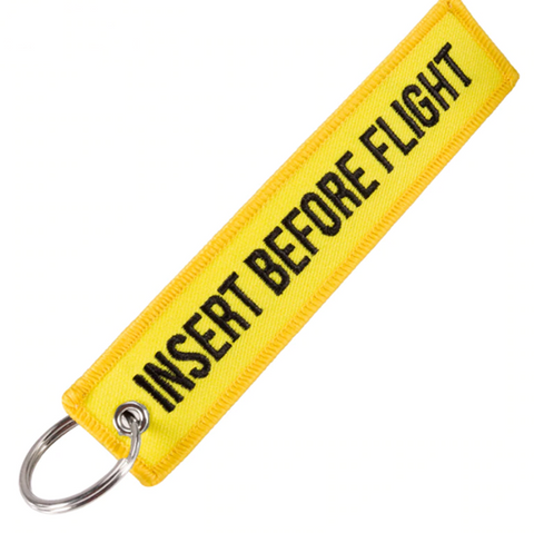 """INSERT BEFORE FLIGHT"" Key Tag"