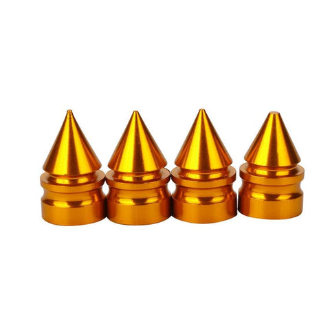 Gold Spiked Tire Valve Stem Caps