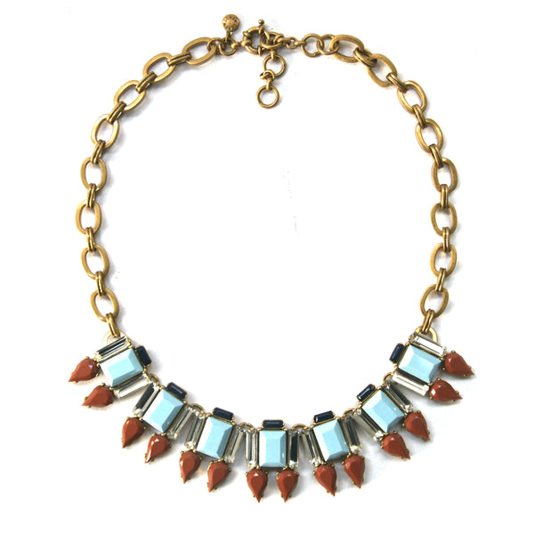 J Crew Statement Necklace, Blue, Brown