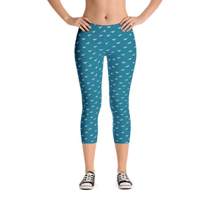 Athletic Capri Leggings Whale