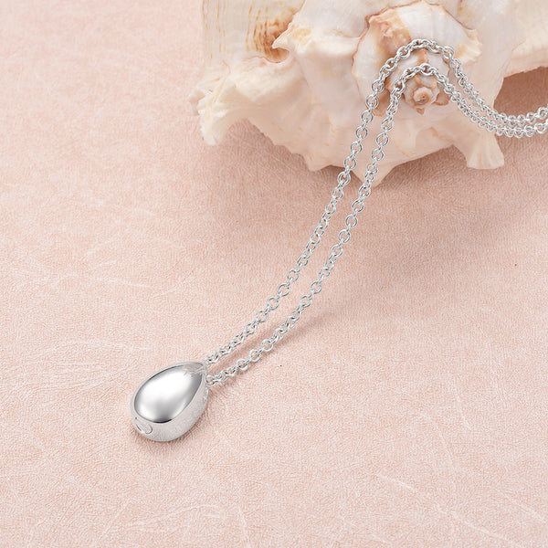 Silver Plated Stainless Steel Teardrop