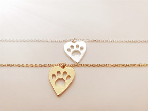 Love Heart and Paw Bracelet