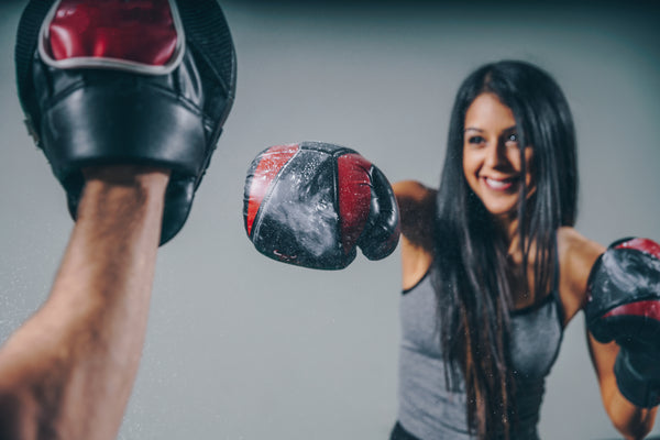 boxing gloves girl